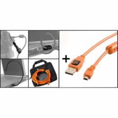 Starter Tethering Kit: USB 2A/Mini-B 5 Pin orange