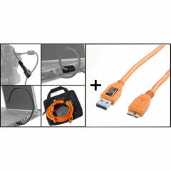 Starter Tethering Kit: USB3 A/MicroB Kabel 15' ORG