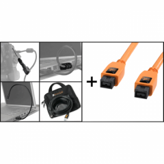 Starter Tethering Kit: FireWire 800-9/800-9 orange