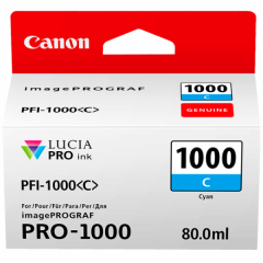Canon Ink PFI -1000 Cyan