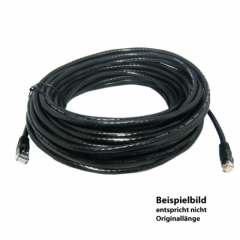 TetherPro Netzwerkkabel Cat6 550MHz 30m, schwarz