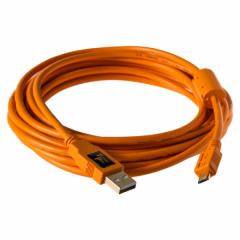 TetherPro USB 2A/Micro-B 5 Pin 4.6 Meter orange