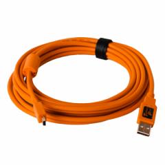 TetherPro USB 2.0 A / Mini B 5 Pin 4.6m/15' orange