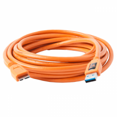 TetherPro USB 3.0 A / Micro B 4.6m/15' orange
