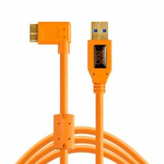 TetherPro USB 3.0 A / Micro B 4.6m/15' or. rechts