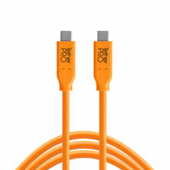 TetherPro USB-C / USB-C 4.6m/15' orange