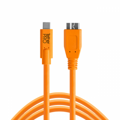 TetherPro USB-C / 3.0 Micro-B 4.6m/15' orange