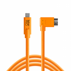 TetherPro USB-C/ 3.0 Micro-B Right 4.6m/15' orange