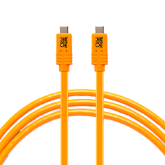 TetherPro USB-C / USB-C für Phase One, 4.6m orange