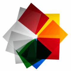 Farbfilter Set (10 Stück) 21 x 21 cm