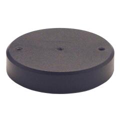 Stahlsockel Ø100mm M6 mit Gummiplatte
