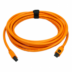TetherPro FireWire 800/800 - 9 Pin - 4.6m orange