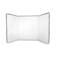 Panoramic Background 4m, White