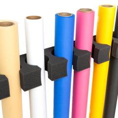 Papierrollenwandhalter aus Kunststoff für 12 Rol.