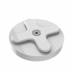 Wallee Wall Disk Mount, weiss