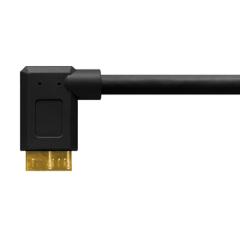 TetherPro USB 3.0 A / Micro B 30cm schwarz, rechts
