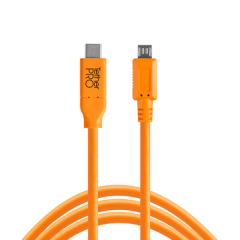 TetherPro USB-C / 2.0 Micro-B 5-Pin 4.6m/15'orange