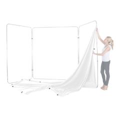 Panoramic Background Bespannung 4m, White